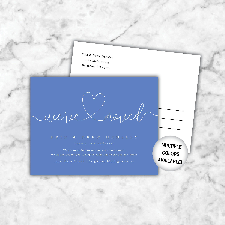 We've Moved Postcards | Printable New Address Postcards ...