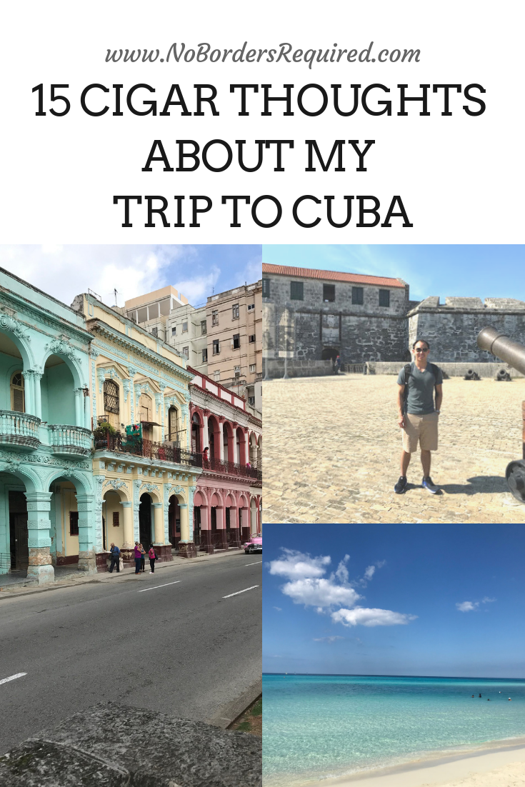 15 Things I Learned From Visiting Cuba #cubaisland Here are 15 amazing things I learned from visiting Cuba! Get my cigar thoughts! First bring cash as they are largely a cash economy. You won't be able to use the internet much. And the crime is super low! Click here to read the rest! Cuba is an amazing Caribbean island to visit for couples and solo travelers. Get your wanderlust on! #havana #cuba #island #travelguide #wanderlust #Caribbean #solotravel #travel #digitalnomad #visitcuba 15 Things #visitcuba