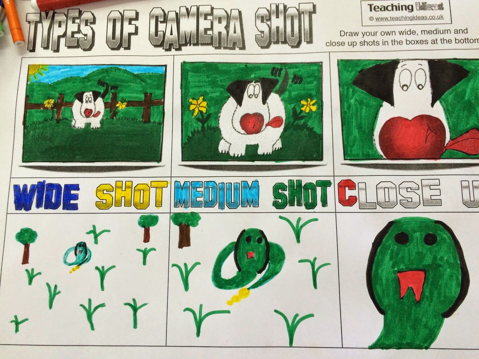 OUR ENGLISH CLASS: Types of films shots