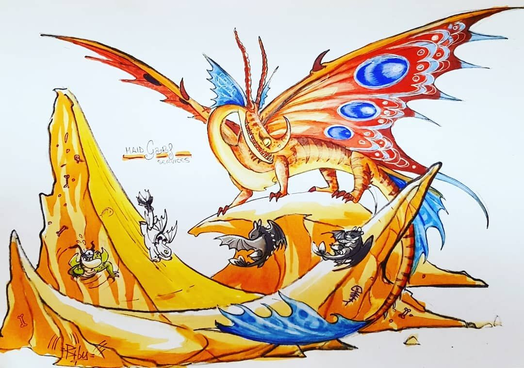 And Finally Our Nanny Friend Garf Deathsongdragon Deathsong Cantoletale Httyd Htty How To Train Dragon How Train Your Dragon How To Train Your Dragon