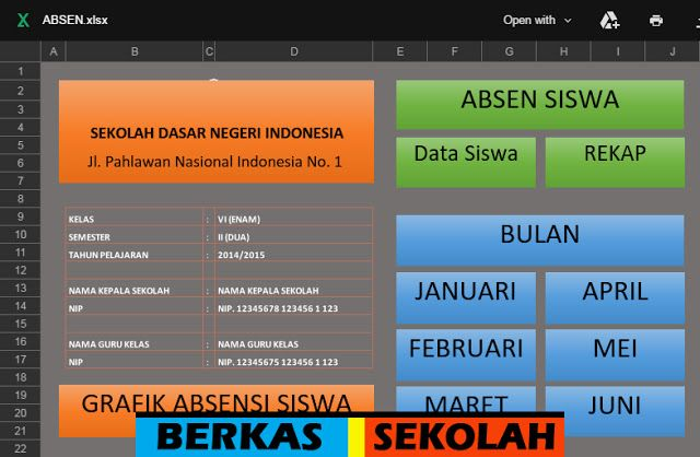 Aplikasi Absensi Siswa Dengan Fitur Grafik Bisa Edit Sekolah Kepala Sekolah Aplikasi