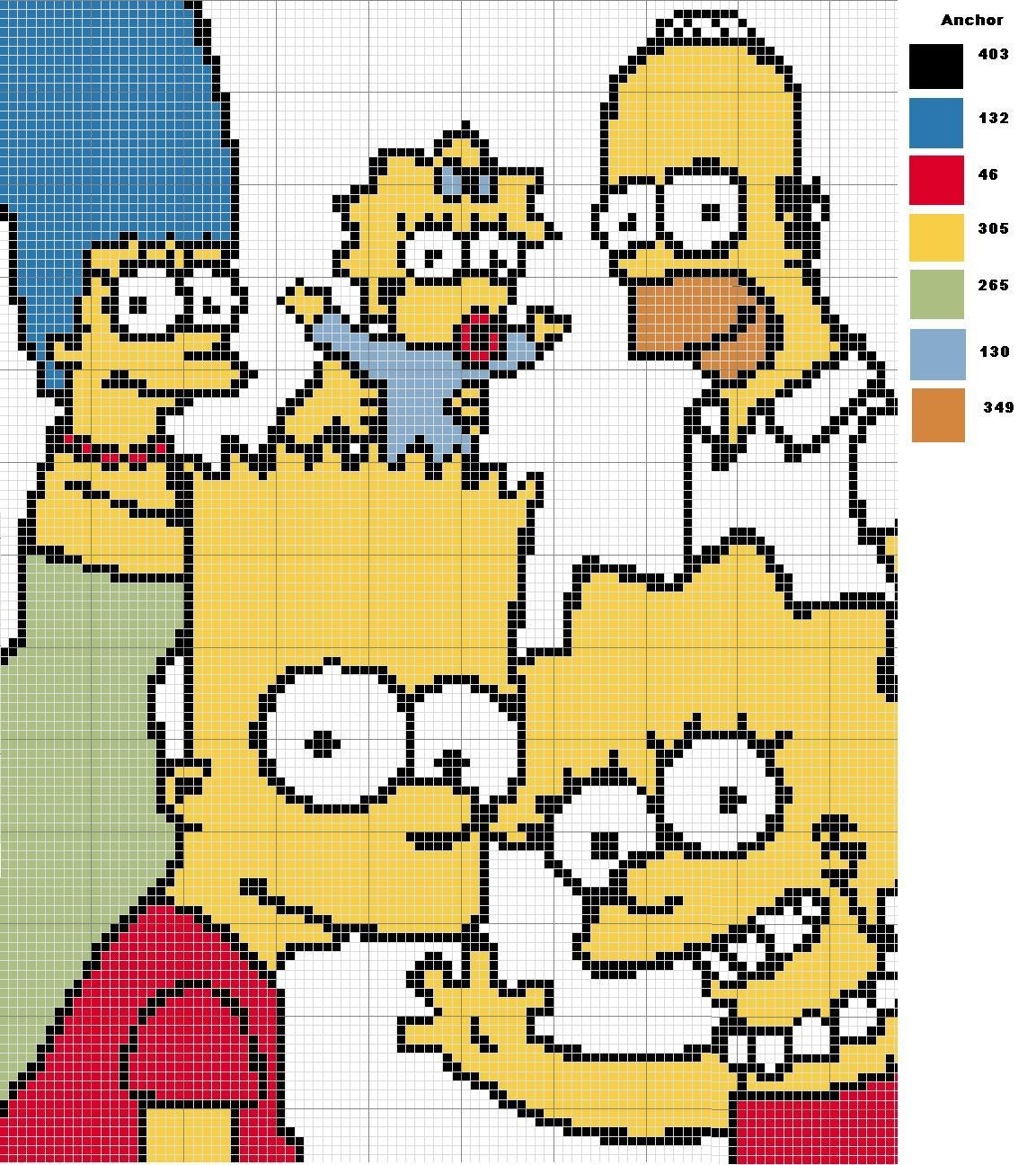 Image Result For Bart Simpson Hama Beads