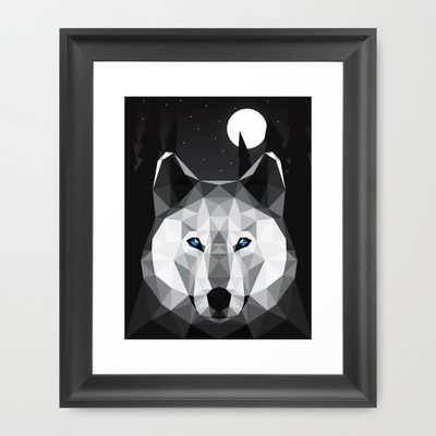 The Tundra Wolf Framed Art Print by Davies Babies
