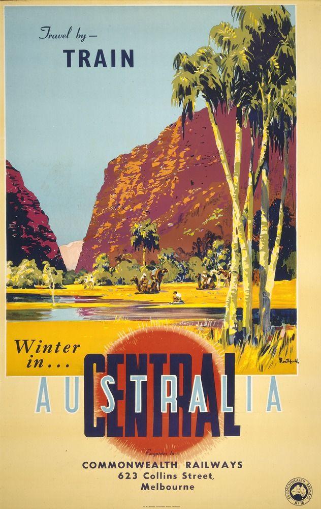 Central Australia Take A Kodak The Travel Posters Of James Northfieldimage Australian Vintage Travel Posters