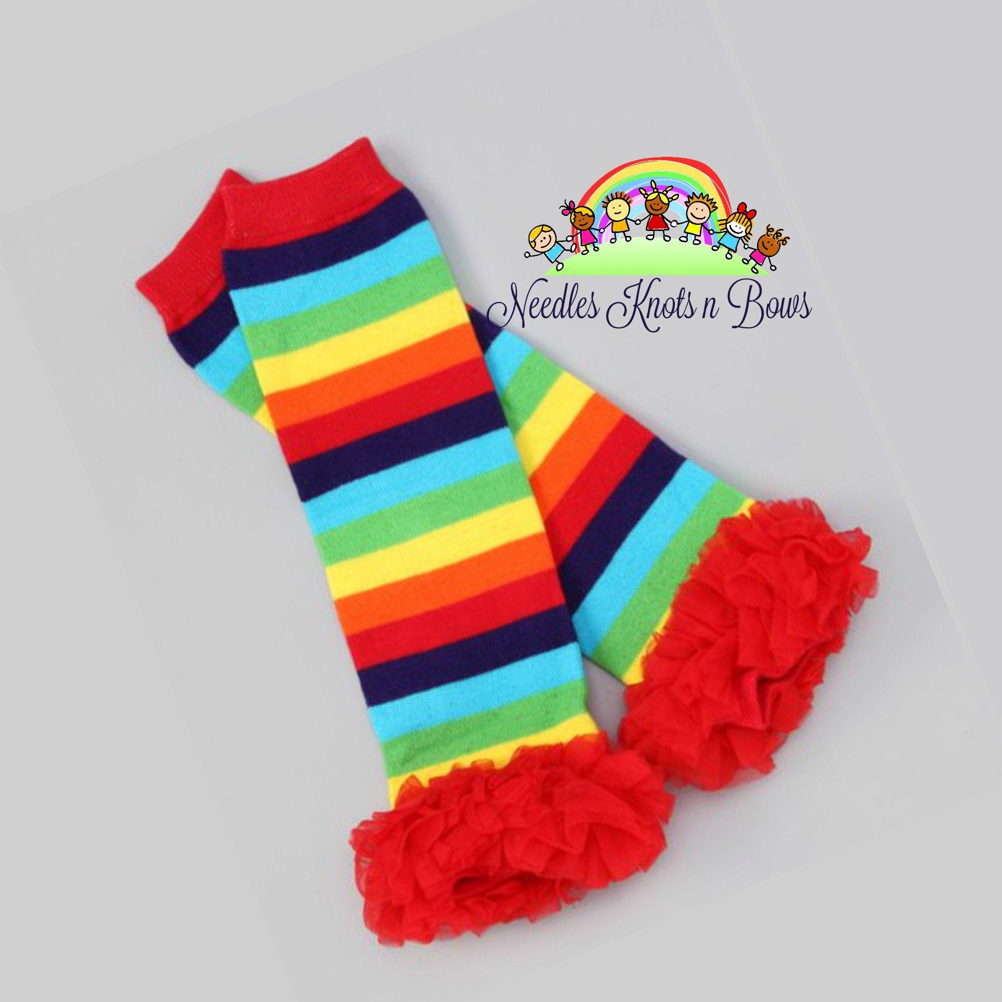 Leggies photoshoot Photo prop Rainbow Baby Headband with matching Leg Warmers Smash Cake Rainbow Leg Warmers St Patrick/'s Birthday