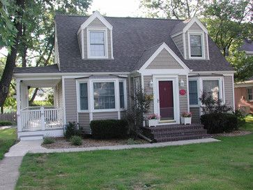 Glenview Il Cape Cod Style Home In Vinyl Siding Traditional Exterior Chicago By Windows Group Ltd