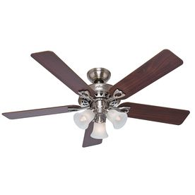 The Sontera 52 In Brushed Nickel Downrod Or Flush Mount Ceiling Fan