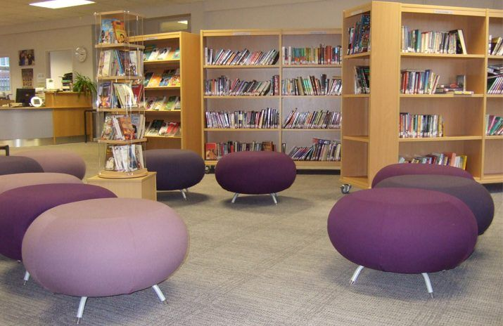 Demco Designed And Furnished The New Library At Claremont High