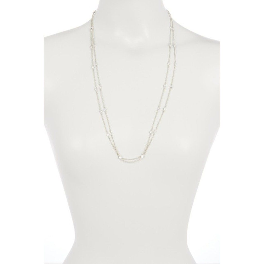 Nordstrom Rack Endless CZ Bezel Station Necklace #nordstromrack