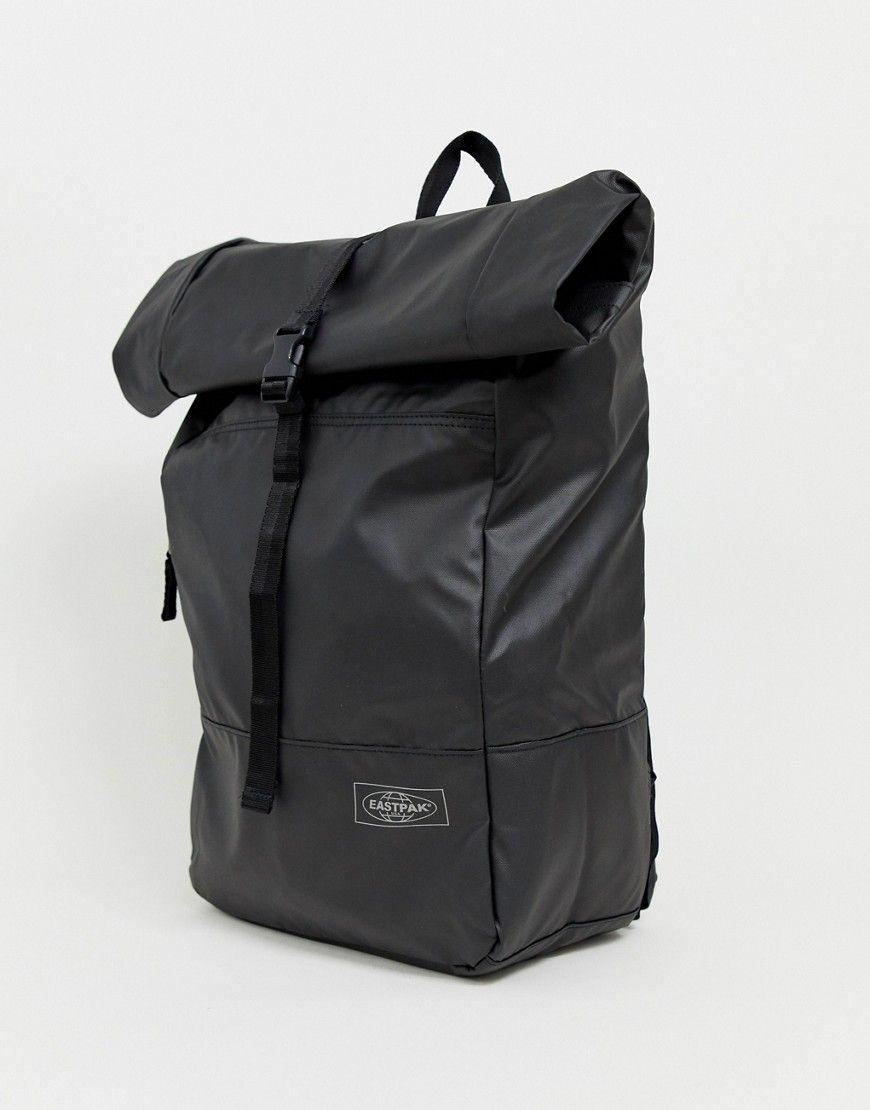 b5dcc98e8 EASTPAK MACNEE 24L ROLL TOP COATED BACKPACK IN BLACK - BLACK. #eastpak  #bags #backpacks