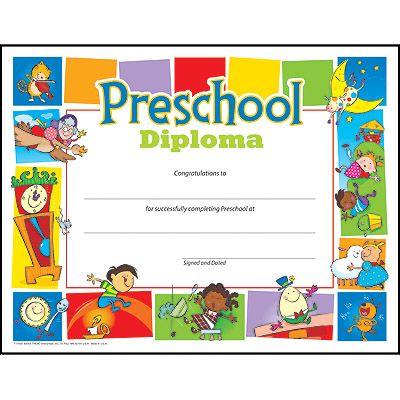 Preschool Diploma Pre-K–K Certificates & Diplomas   Education ...