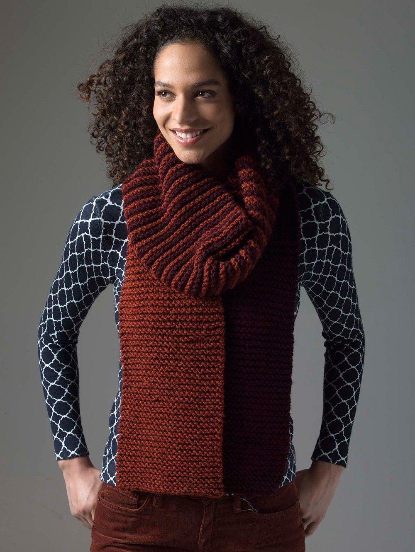 Level 1 Knit Scarf Pattern | Scarf knitting patterns, Knit ...