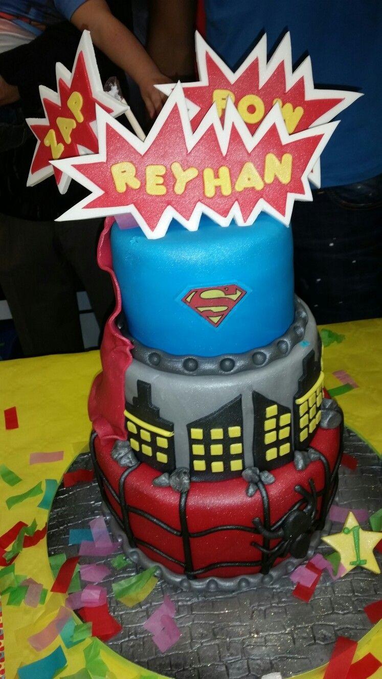 Superhero Cake. Victoria Sponge.