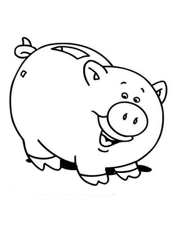 Piggy Bank Is Laughing Coloring Page Color Luna Coloring Pages Piggy Bank Piggy