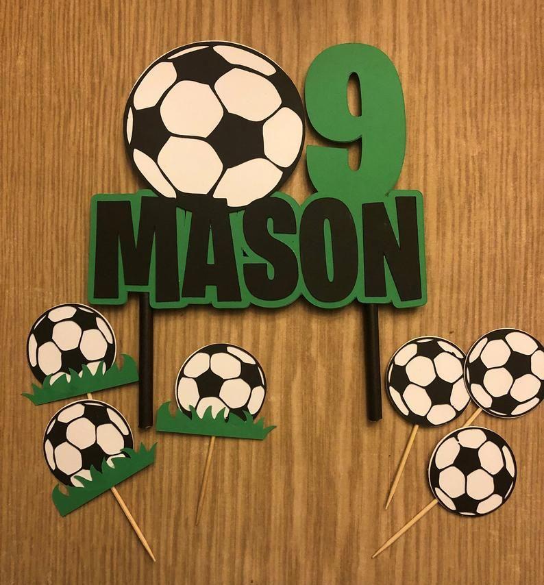 Soccer Cake Topper Etsy In 2020 Soccer Birthday Parties Soccer Party Decorations Soccer Birthday