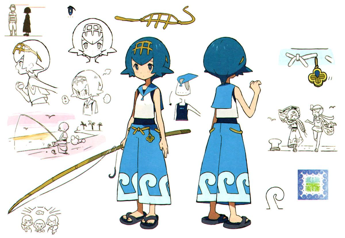 Lana Concept Art from Pokémon Sun and Moon #art #artwork #gaming  #videogames #gamer #gameart #conceptart #illu… | Concept art characters,  Character concept, Pokemon