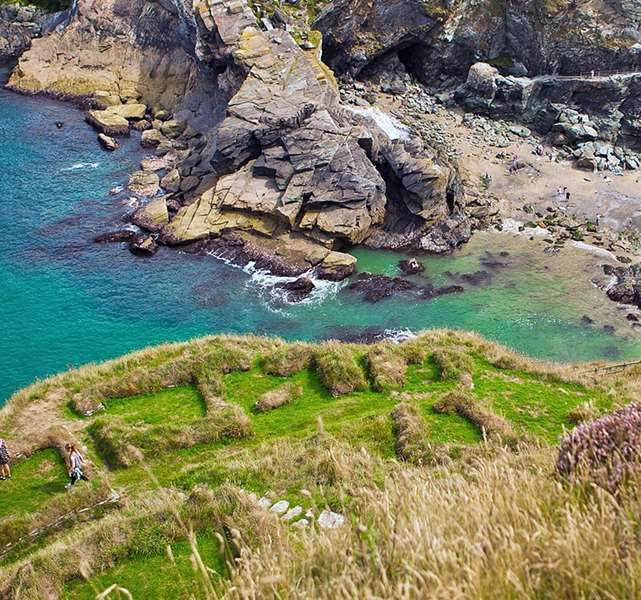 Sea view at Tintagel Castle