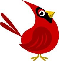 cardinal clipart google search volleyball pinterest rh pinterest com cardinal clipart images cardinal clip art black and white
