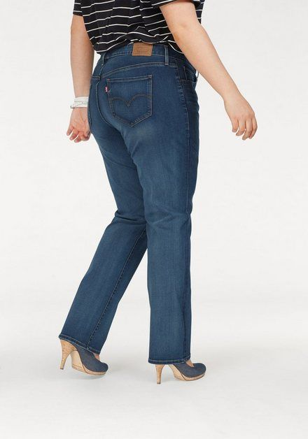Straight-Jeans »314 Shaping Straight« in heller Denim- Waschung #jeansplus