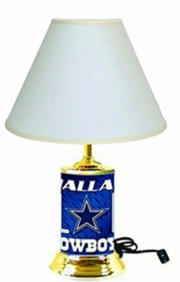 Dallas Cowboys License Plate Lamp With White Shade Plates And S