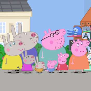 Grandpa Pig shares with Peppa and his love of