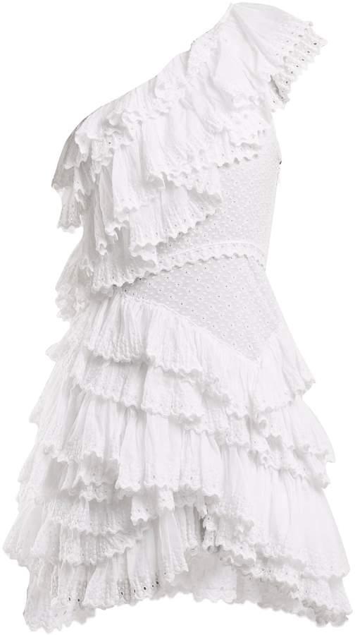 ruffled one shoulder dress - White Isabel Marant Agigep