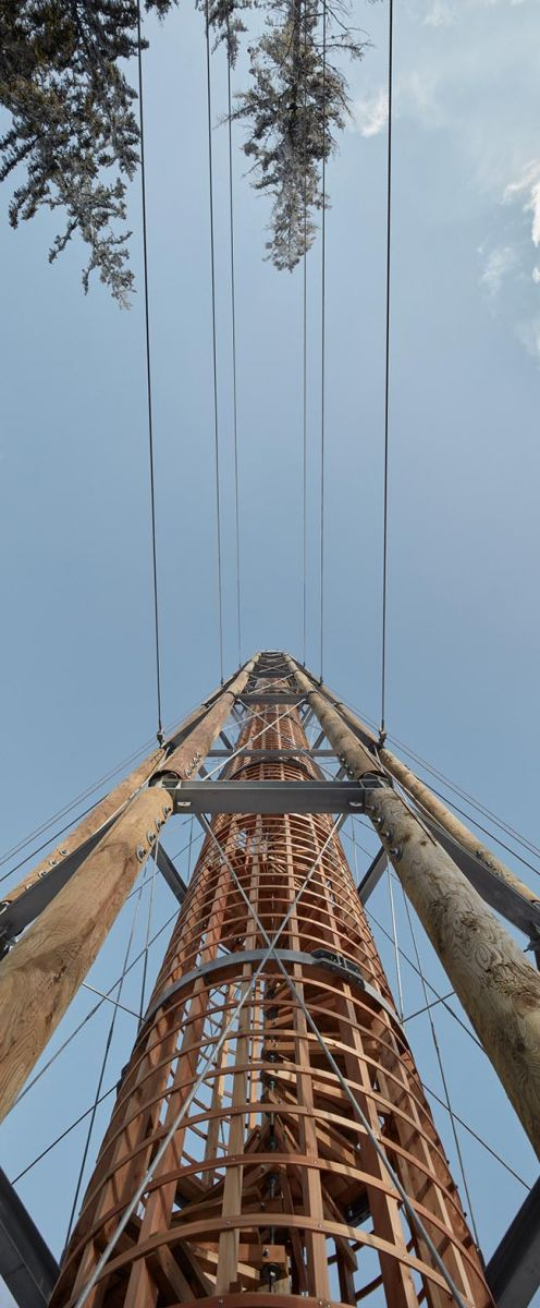 Lookout Tower At Kralicak By Hut Architektury Martin Rajnis David Kubik In 2020 Lookout Tower Tower Membrane Roof