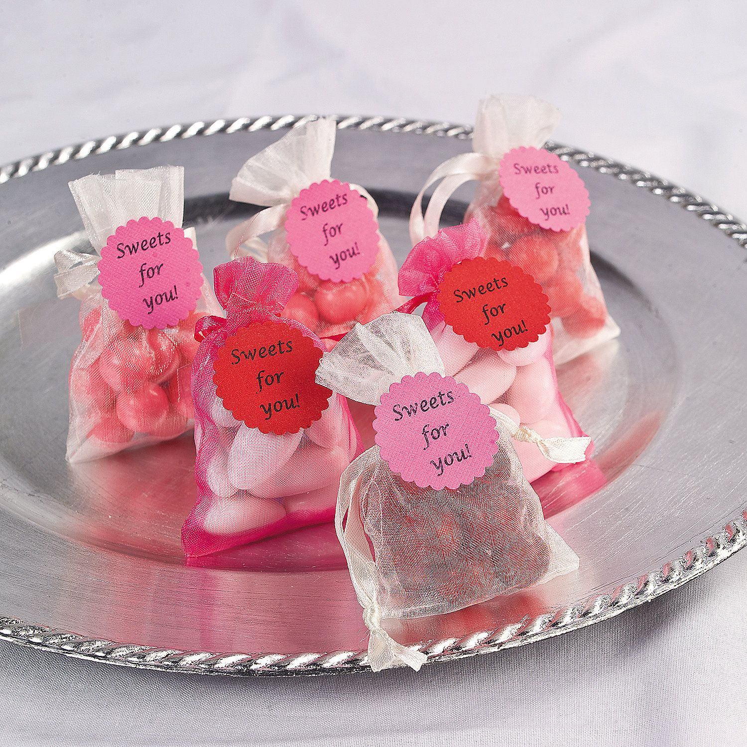 "DIY ""Sweets For You"" Organza Treat Bags"