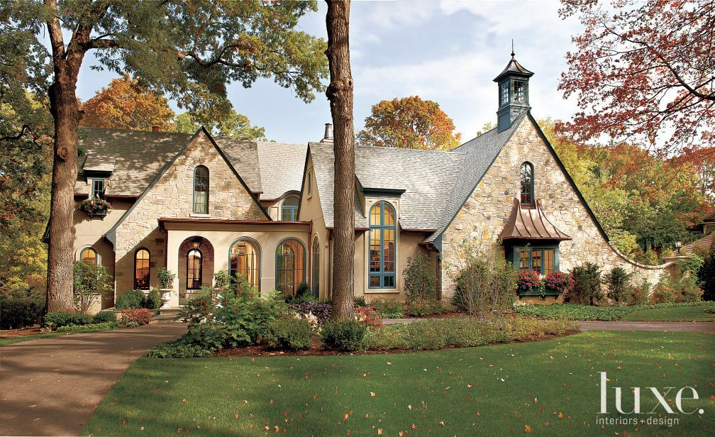 Storybook Cottage Stone Exterior With Shingle Style Roof