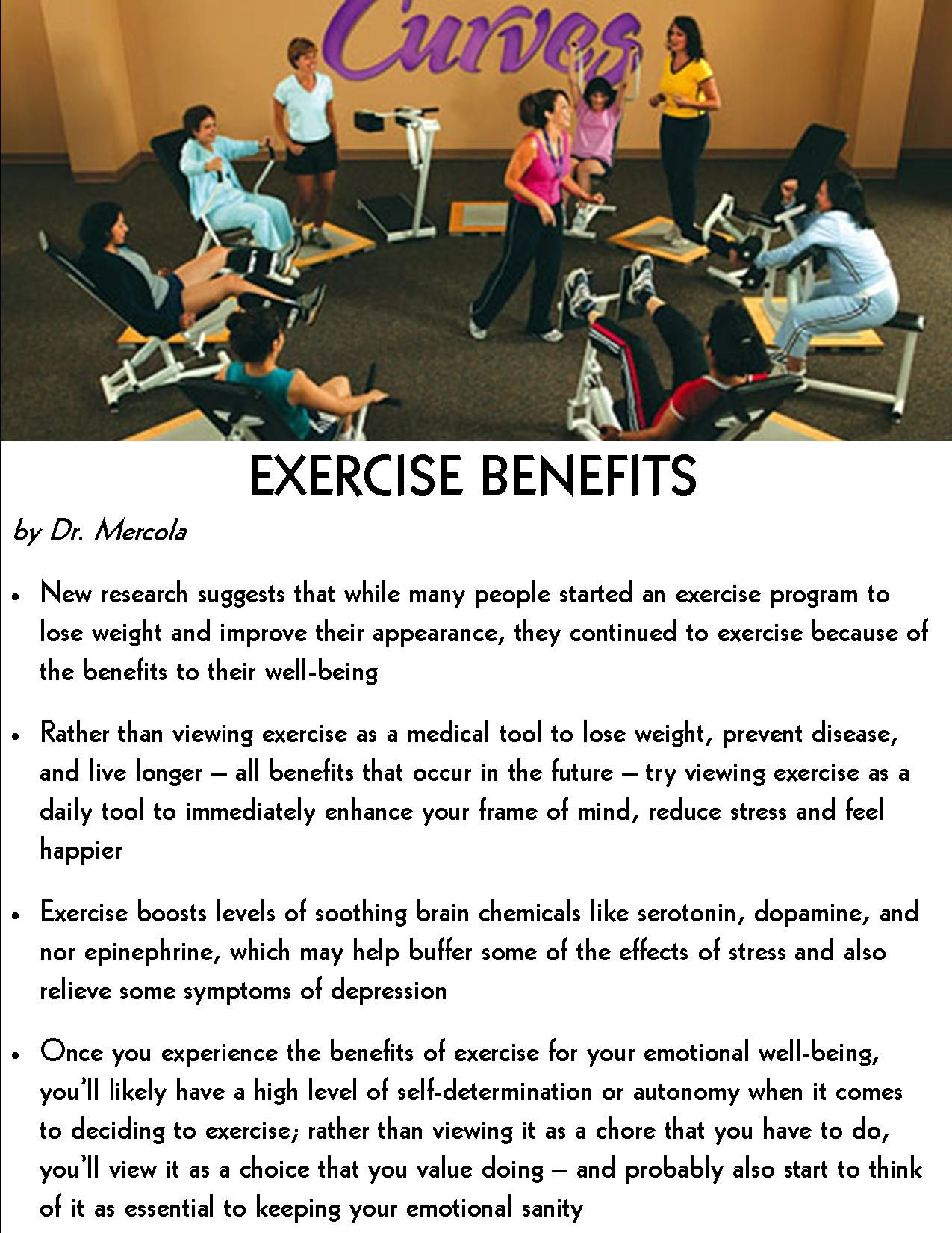 Exercise benefits - all are 100% true. Upon developing an exercise routine  to lose weight and look better, I'm now maintaining it due to its positive  ...