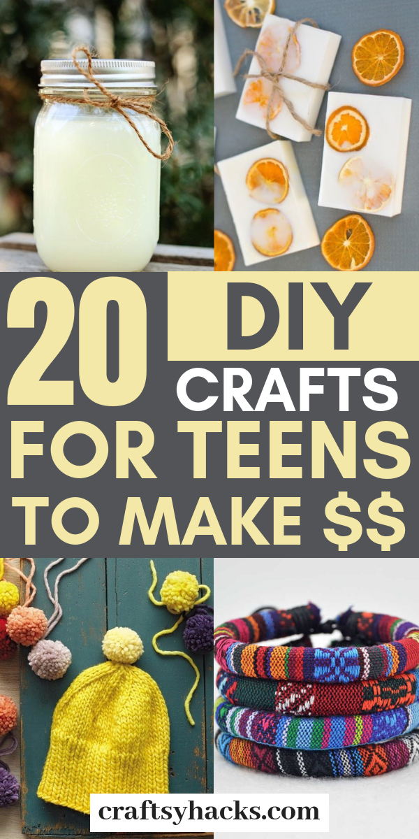 20 DIY Crafts for Teens to Make $$