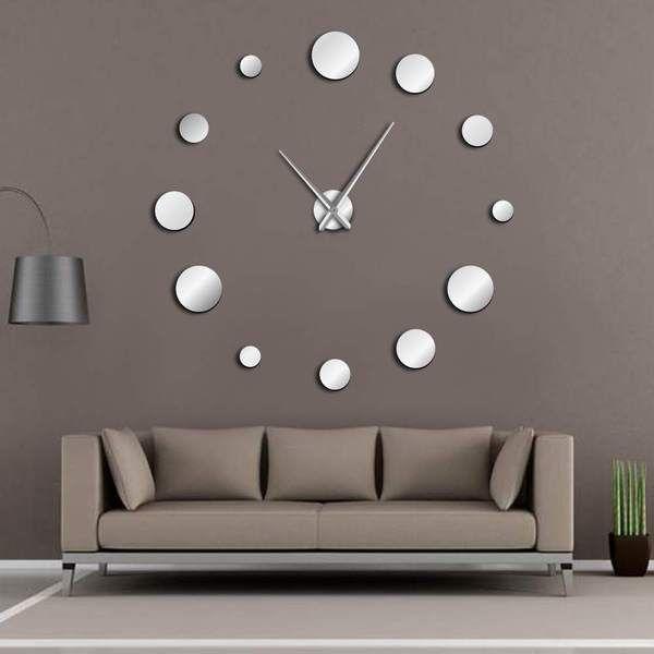 Diy Large Wall Clock In 2020 Wall Clock Sticker Wall Clock Kits