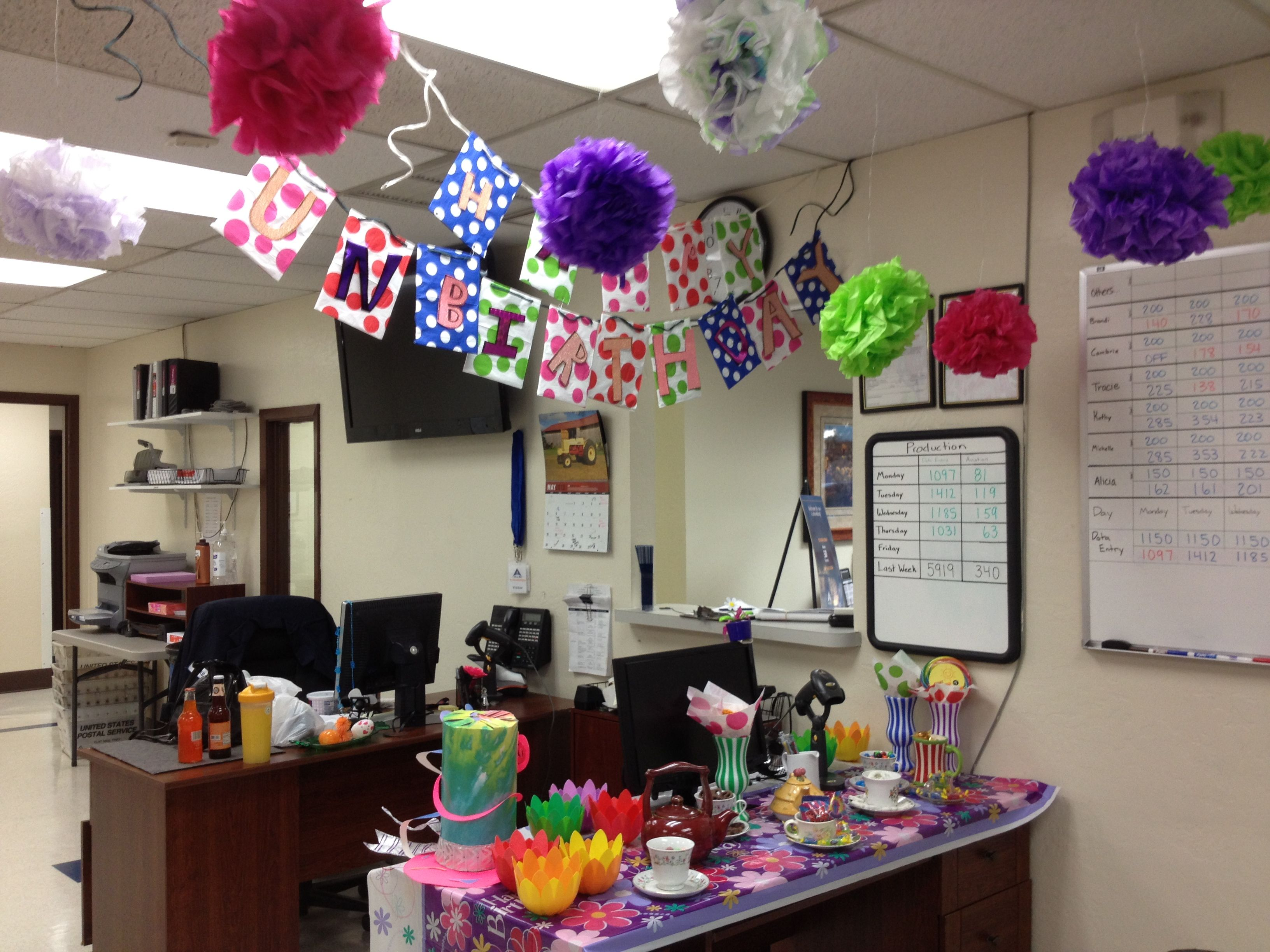 Pin By Kathy Evey On Office Birthday Decorations Office Birthday Office Birthday Decorations Cubicle Birthday Decorations