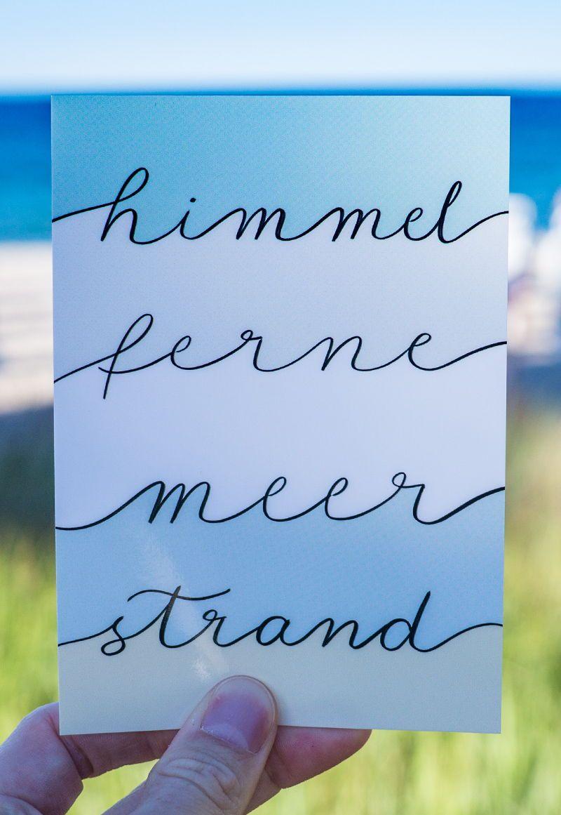 Photo of Et håndbokstavkort for alle kystbarn! Heaven – Distant – Sea and Road …