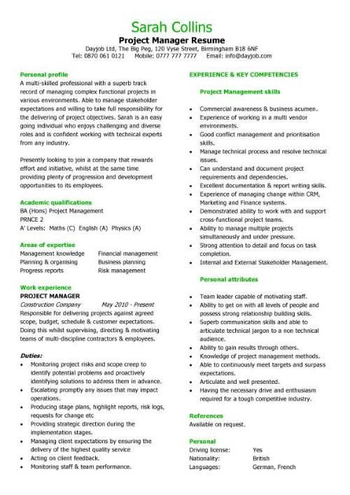 Project Coordinator Resume Example - http\/\/wwwresumecareerinfo - resume layout example