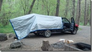 Tarp Covering Truck Bed
