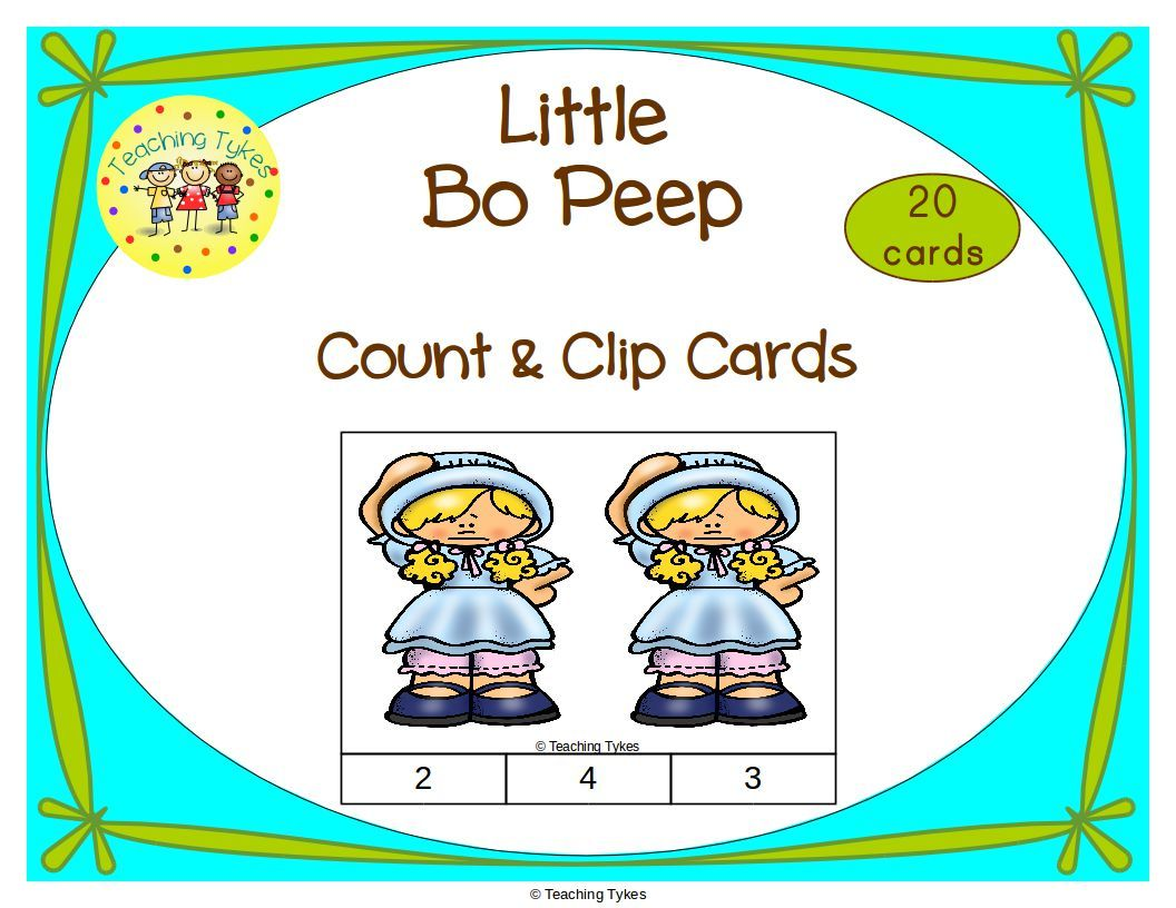 Little Bo Peep Task Cards With Images