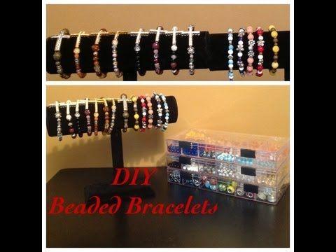 ▶ #67: DIY- Beaded Bracelets - YouTube- good beginner instructions