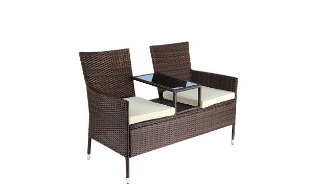 Polyrattan Garden Seat in Choice of Colour for £99.98 With ...