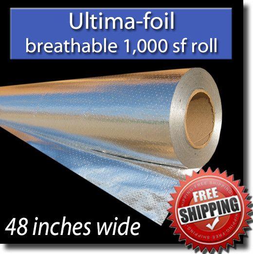 Ultima Foil Radiant Barrier 1 000 Sf Breathable Radiant Barrier Foil Insulation Attic Insulation