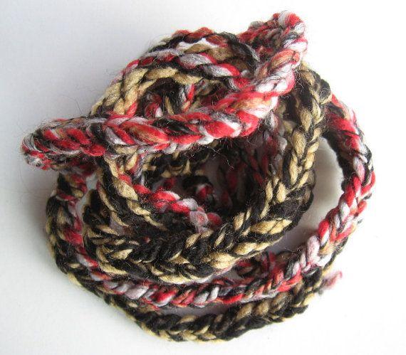 Double Braid HeadBand - Fireside - Hair Style - Black, Red, Yellow