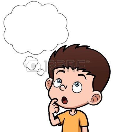 Ilustraci n vectorial de dibujos animados ni os pensando - Dibujos animados para bebes ...