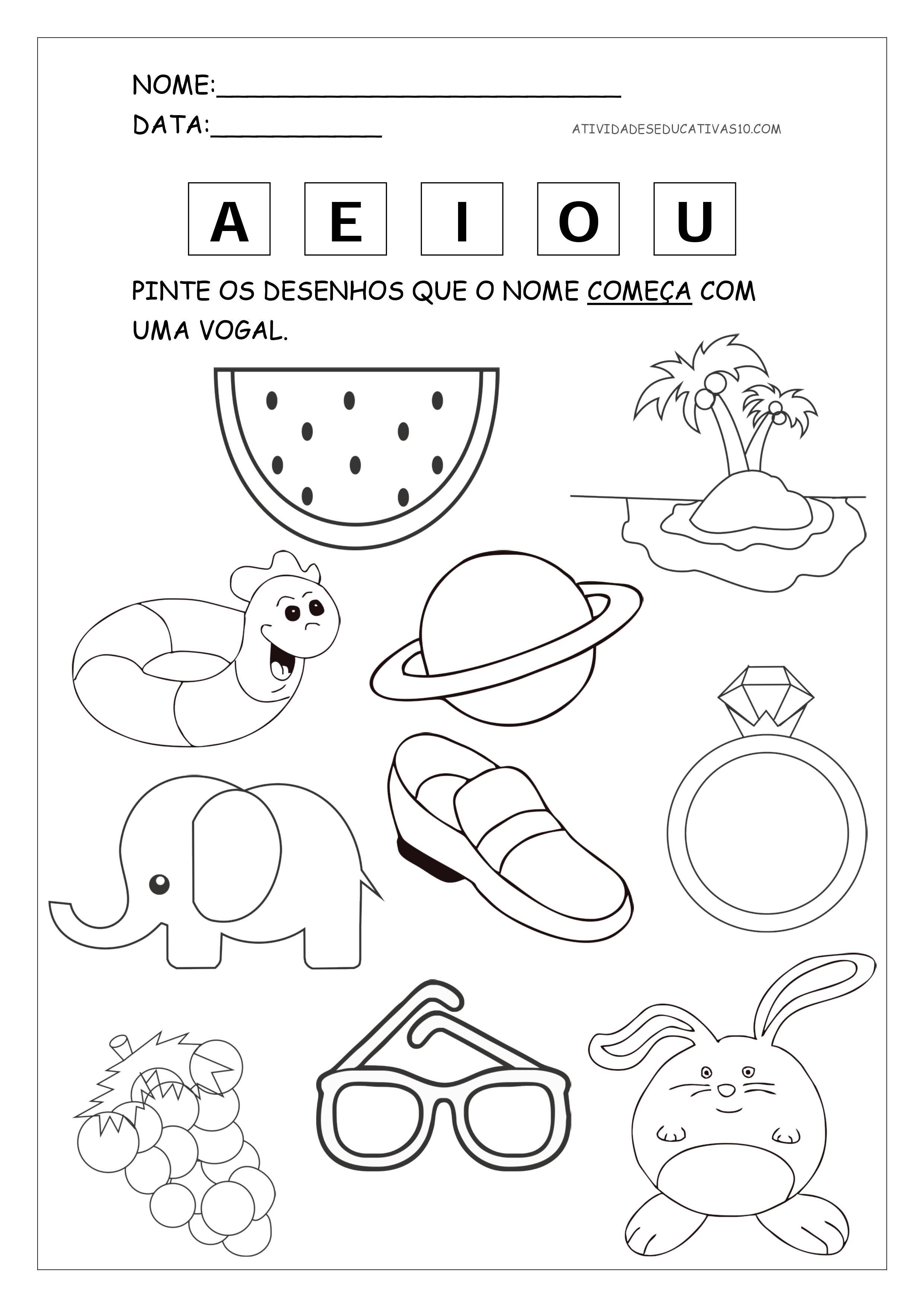 1-atividade-com-as-vogais.jpg (2481×3508) | PREESCOLAR | Pinterest