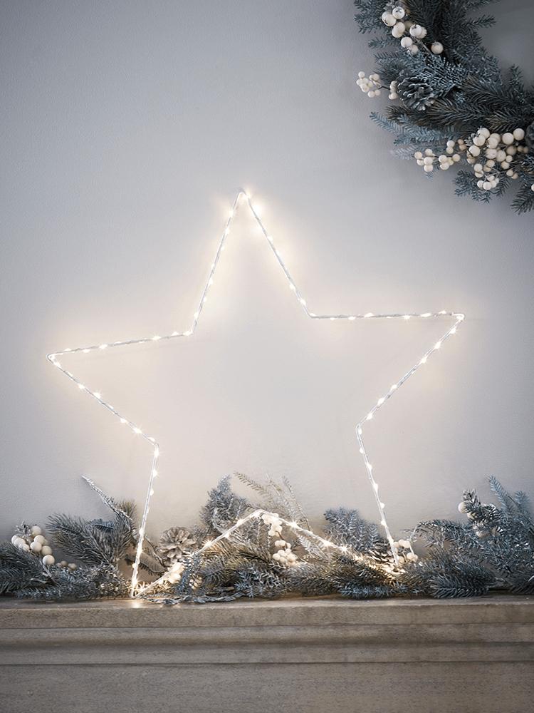 NEW Indoor Outdoor Wire Star Light | Christmas | Pinterest | Indoor ...