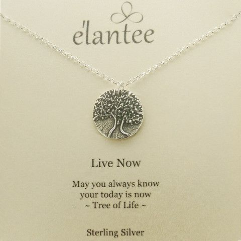 Live Now Tree Of Life Necklace On Quote Card Graduation Jewelry Delectable Tree Of Life Quote