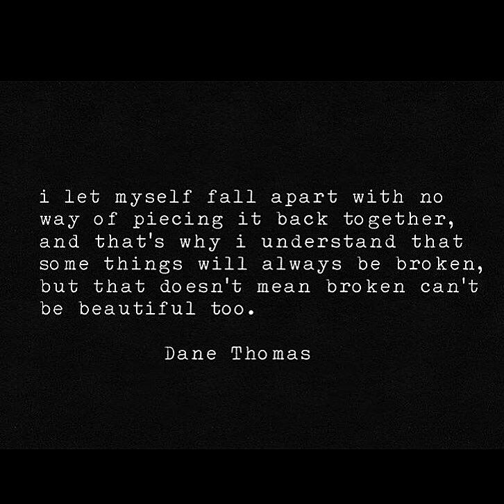 I Understand That Some Things Will Always Be Broken, But