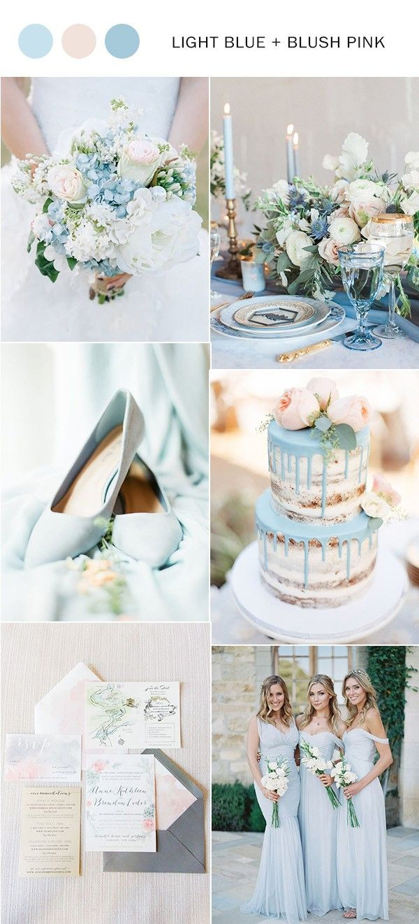 Light blue wedding decoration ideas  Top  Shades of Blue Wedding Color Ideas to Love  Deco mariage