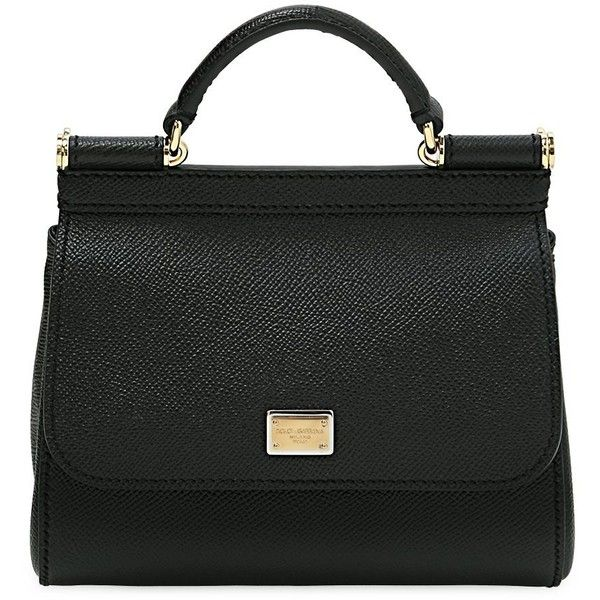 Dolce & Gabbana Women Micro Sicily Dauphine Leather Bag (26,080 MXN) ❤ liked on Polyvore featuring bags, handbags, shoulder bags, black, snap purse, 100 leather handbags, genuine leather purse, real leather handbags and leather handbags