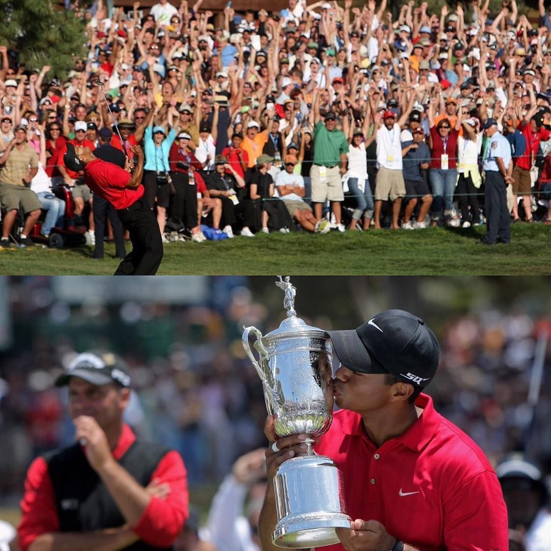 """""""Tiger vs. Rocco at the 2008 U.S. Open.   Torrey Pines is familiar with Monday finishes."""""""