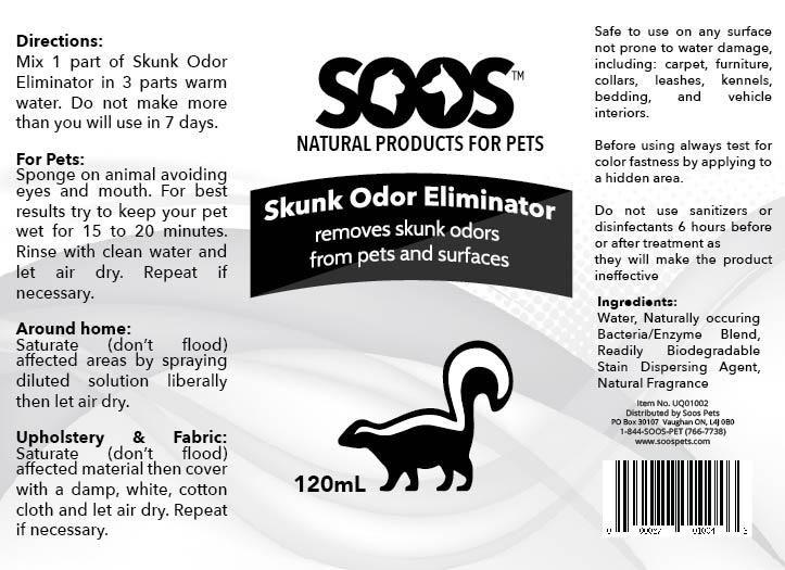 Natural Skunk Odor Eliminator 120mL | Gift Ideas